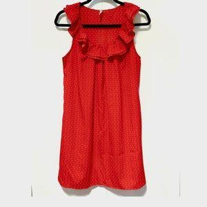 I Love H81- Sleeveless Ruffle Neck Dress